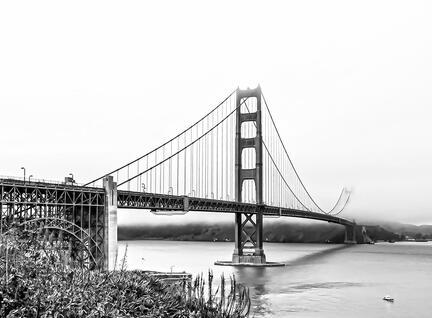 Golden Gate San Fransisco Californien b/w