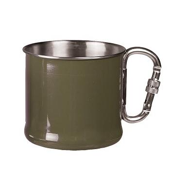 Mil-tec - Krus med Karabinhage 500 ml. (Oliven)
