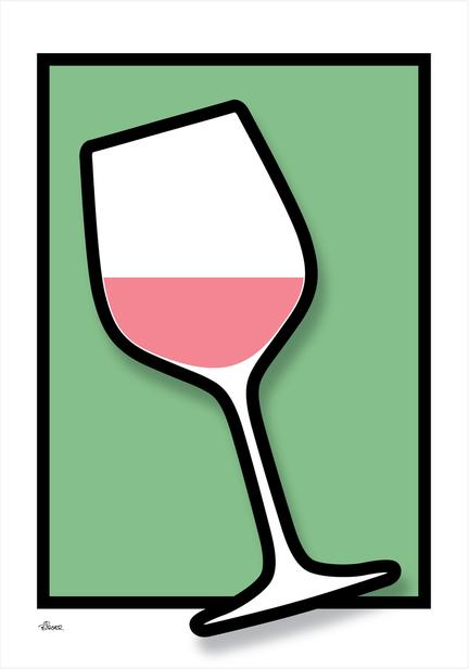 Wine vin glass glas colour Poster plakat ©Birger www.artprintandmore.dk