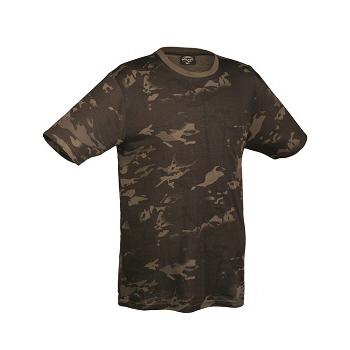 Mil-tec - Camo T-shirt (Sort Multicam)