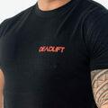 Meteor t-shirt sort bryst logo