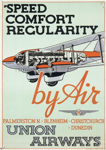fotomester union airways reklame plakat