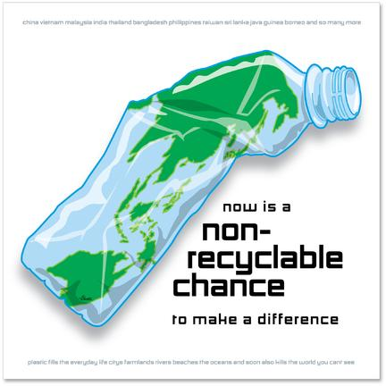 Plastic non recycling art poster chance