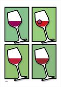 Wine vin glass glas colour GREEN Poster plakat ©Birger www.artprintandmore.dk