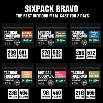 Tactical Foodpack Taktisk Six Pack Bravo