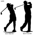 Sportsign golf auto deko sticker silhouet A