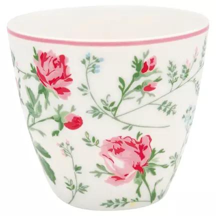 Latte cup Constance white