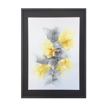 abstrakt maleri gul