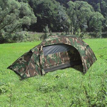 Mil-tec - Recom 1-personers Telt (Woodland)