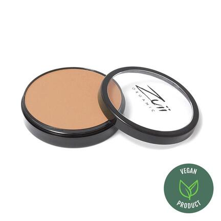 Certified Organic Flora Powder Foundation med UVA og UVB beskyttelse 10 gr Hazelnut