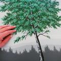 grøn træ 60x80 cm