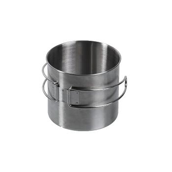 Mil-tec - Krus i Rustfri Stål med Trådhåndtag 600 ml.