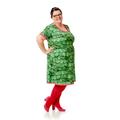 jerseykjole Model Marie, med fedt kaktus print, syes på bestilling til kvinder i alle størrelser.