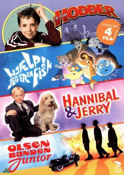 EN SOM HODDER, HJÆLP JEG ER EN FISK, HANNIBAL & JERRY, OLSEN BANDEN JUNIOR, DVD