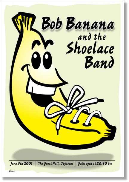Bob Banana Poster illustration funny
