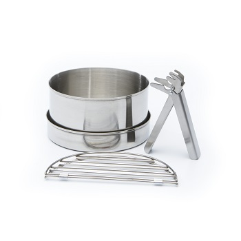 Kelly Kettle - Cook Set Small (rustfri stål)