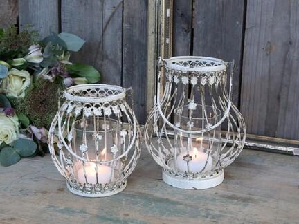 Lanterner med blomster docere fra Chic Antique