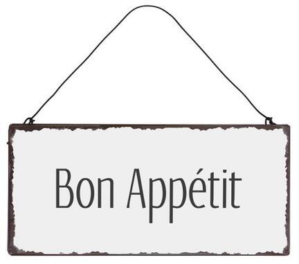 Metalskilt Bon Appétit