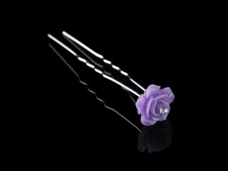 Smuk lilla Rose Hårnåle 2 pk med krystaller