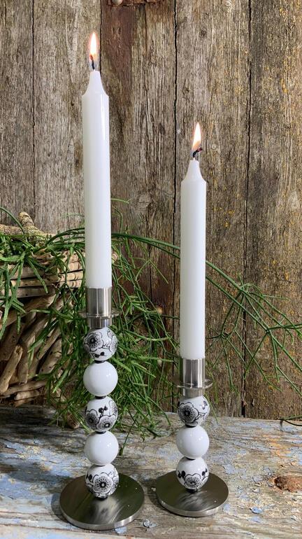 Lysestager fra glasjanne og MY Candle