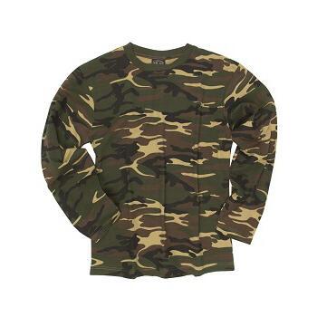 Mil-tec - T-shirt Langærmet (Woodland)