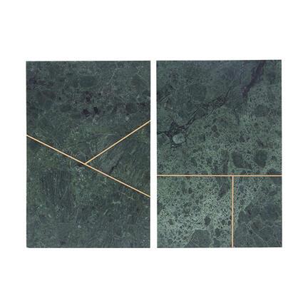 1 stk. marmorplade med guldtryk