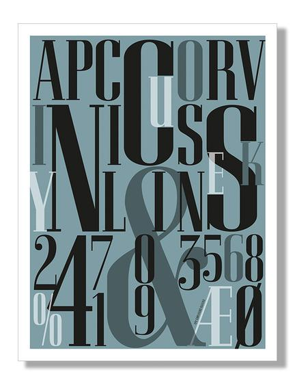 Typographic art poster by Herman Klausen