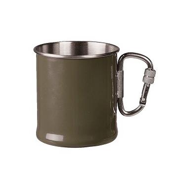 Mil-tec - Krus med Karabinhage 250 ml. (Oliven)