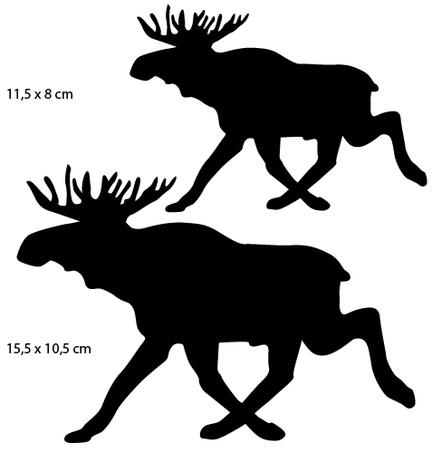 Sportsign ælg elk moose auto deko sticker silhouet