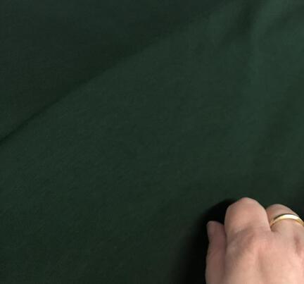 Mørk grøn bomuldsjersey, til lækkert comfy tøj, kjoler, nederdele og bluser