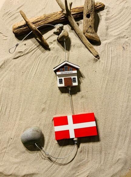 flag på snor til ophæng