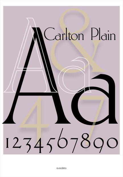 Carlton Plain font Klausen design typoart poster plakat art work webshop