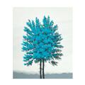 Maleri blå turkis 50x60