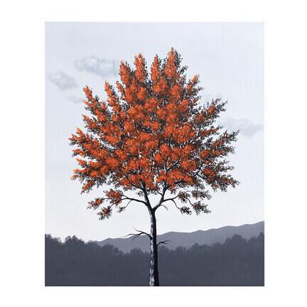 orange træ maleri