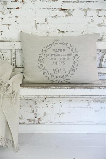 pudebetræk Amiens Paris, hør, 50x70cm