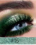 Øjenskygge Nr. 16  Mørk groen Metallic   Single farvede Metallic øjenskygge fra SpaNews Makeup Shop Farum