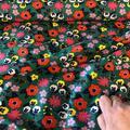 Bomuldsjersey med print af sommer blomster