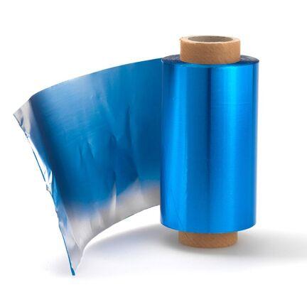 Alufolie, staniol, highligts papir Blå