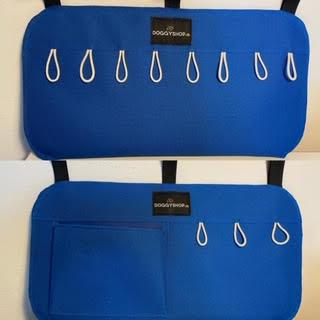 Doggyshop-hundeudstyr-bilpakke-tilbud-flexlineholder-hundesnorholder-hundemadras-blå
