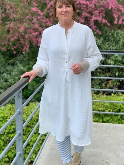 Bomulds kjole i hvid