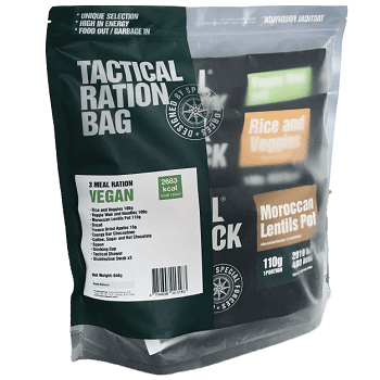 Tactical Foodpack Feltration Vegan 3 måltider