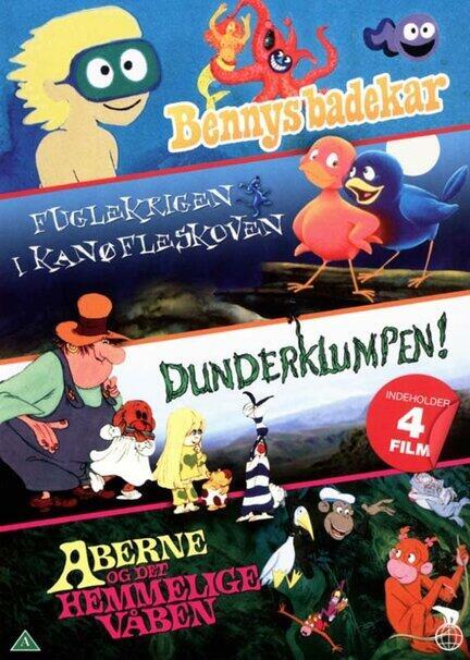 BENNYS BADEKAR, FUGLEKRIGEN I KANØFLESKOVEN, DUNDERKLUMPEN, ABERNE OG DET HEMMELIGE VÅBEN, DVD