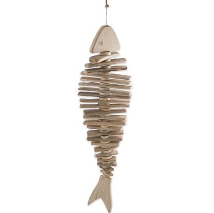 skelet fisk i træ