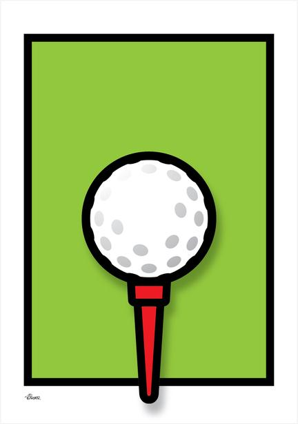 Golf Tee green graphic colour Poster plakat ©Birger www.artprintandmore.dk