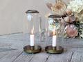 Glasklokker med lysestage