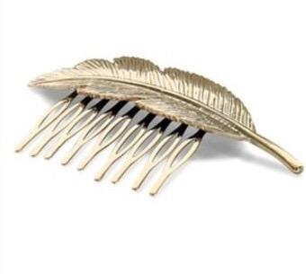 Hårspænde Fashion Jewelry Guld Blad