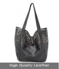 Designer Dametaske stor og rummelig sort læder
