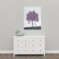 maleri lilla træ