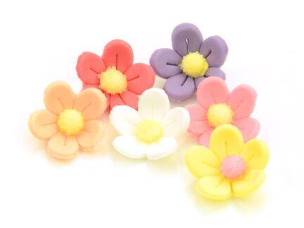 Sukkerblomster farvet