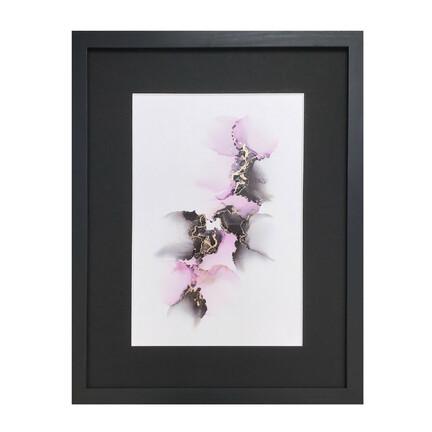 maleri sort lyserød 30x40 cm